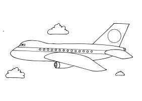 Malvorlage Flugzeug   Kostenlose Ausmalbilder Zum ...