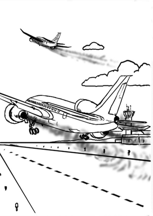 Malvorlage Flugzeug - Kostenlose Ausmalbilder Zum Ausdrucken