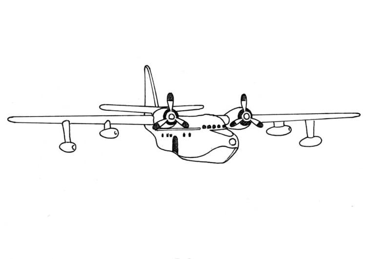 Malvorlage Flugzeug - Kostenlose Ausmalbilder Zum