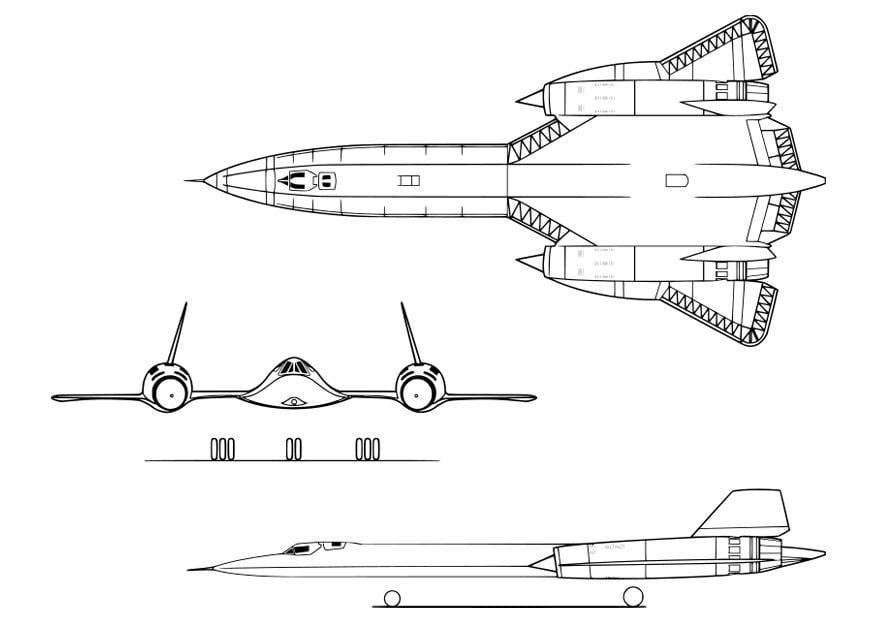 Malvorlage Flugzeug