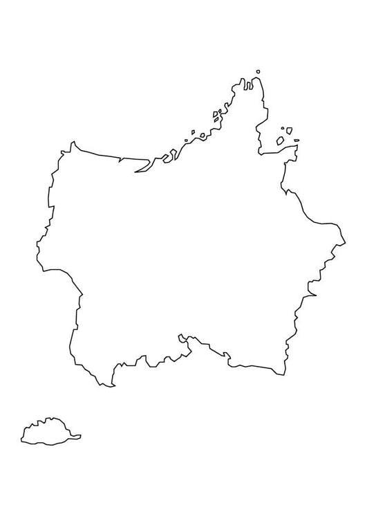 Malvorlage Frankreichkarte Ausmalbild 10111