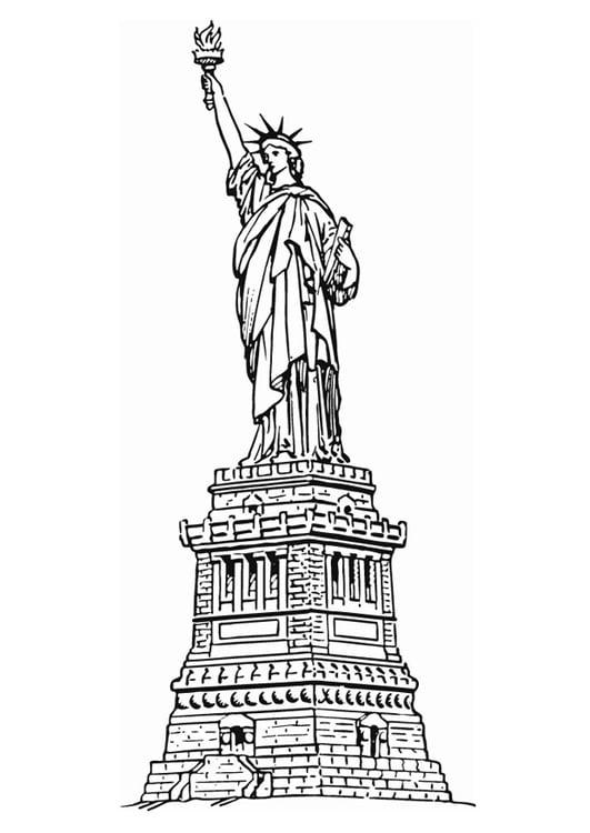 Malvorlage Freiheitsstatue New York Ausmalbild 13078