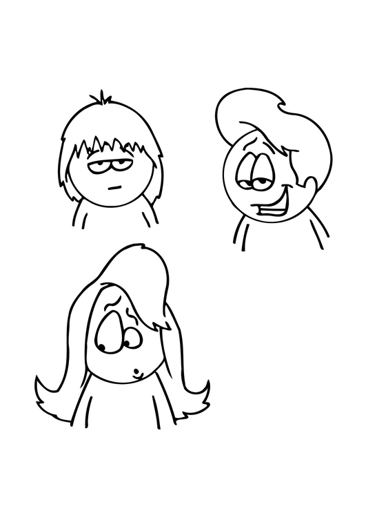 Malvorlage Frisuren