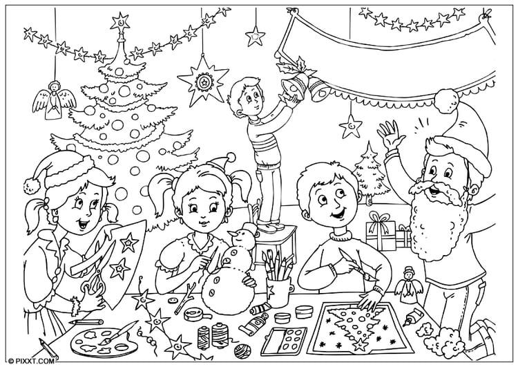 Malvorlage Frohe Weihnachten - Kostenlose Ausmalbilder Zum