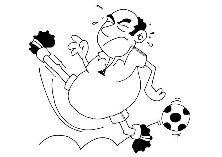 Malvorlage Fußball
