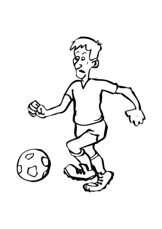 Malvorlage Fussball - Kostenlose Ausmalbilder Zum Ausdrucken
