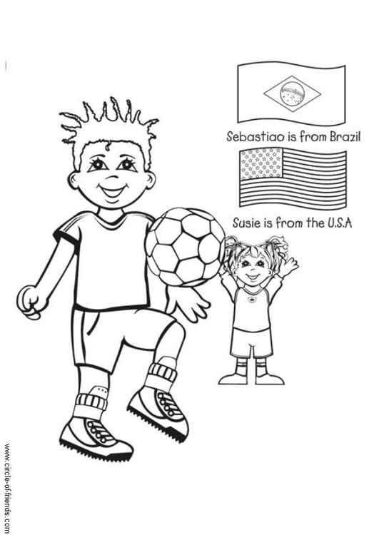 Malvorlage Fussball spielen - Kostenlose Ausmalbilder Zum