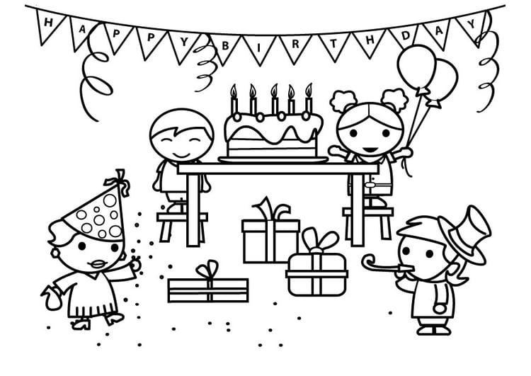 Malvorlage Geburtstag - Kostenlose Ausmalbilder Zum