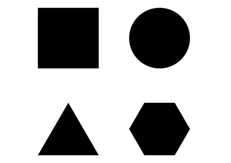 Malvorlage geometrische Figuren - Kostenlose Ausmalbilder