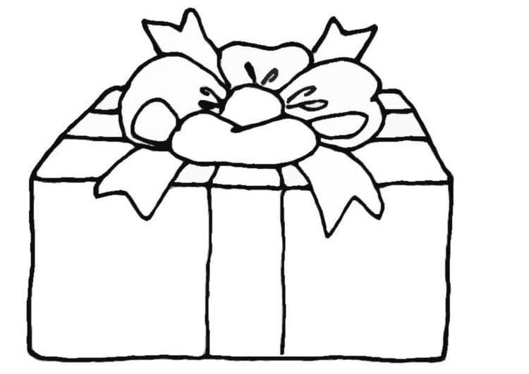 Malvorlage Geschenk - Kostenlose Ausmalbilder Zum