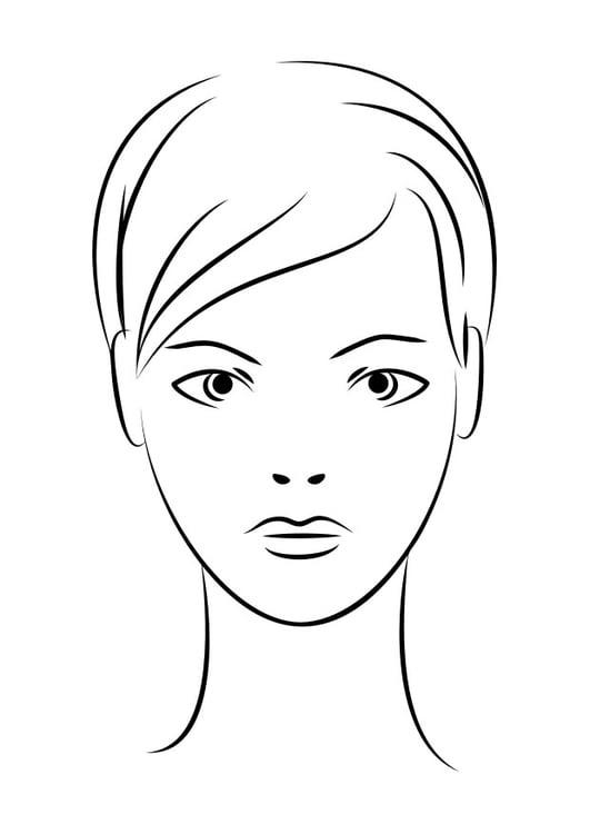 Malvorlage Gesicht - Kostenlose Ausmalbilder Zum