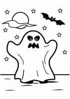 Malvorlage Gespenst Halloween   Kostenlose Ausmalbilder ...