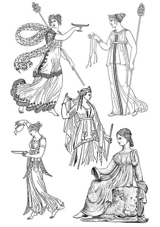 Malvorlage griechische Frau Ausmalbild 18670
