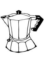 Malvorlage griechische Kaffeekanne   Kostenlose ...