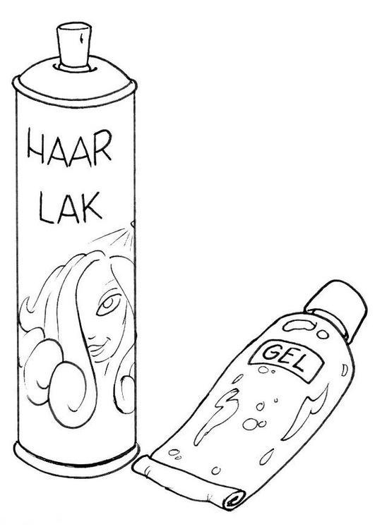 Malvorlage Haarspray und Haargel  Ausmalbild 8210 Images