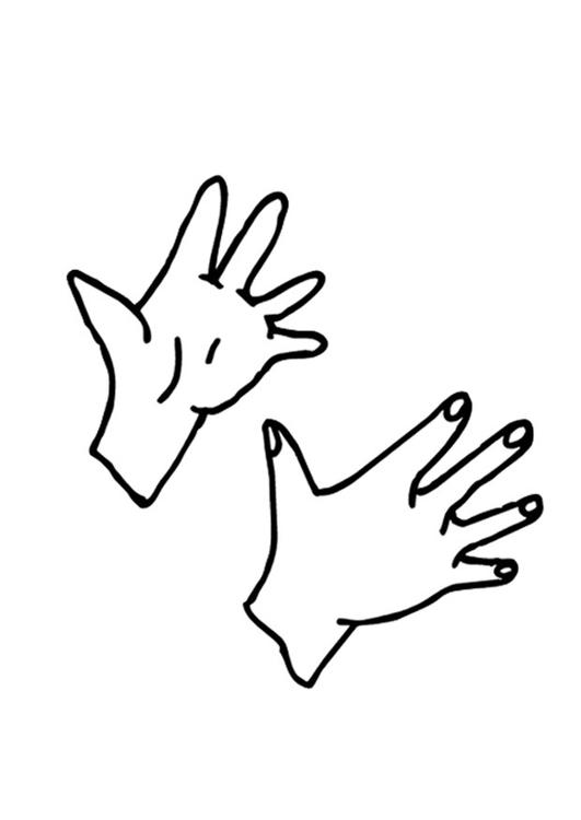 Malvorlage Hände - Kostenlose Ausmalbilder Zum Ausdrucken