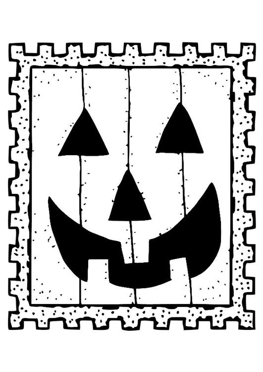 Malvorlage Halloween Briefmarke   Kostenlose Ausmalbilder ...