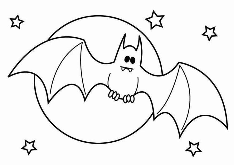 Malvorlage Halloween Fledermaus - Kostenlose Ausmalbilder