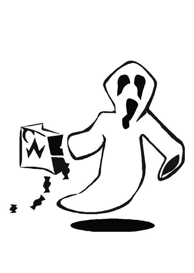 Malvorlage Halloween Geist - Kostenlose Ausmalbilder Zum