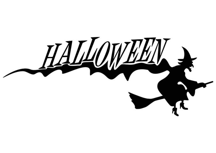 Malvorlage Halloween - Hexe - Kostenlose Ausmalbilder Zum