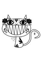 Malvorlage Halloween Katze   Kostenlose Ausmalbilder Zum ...