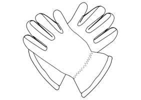Malvorlage Handschuh