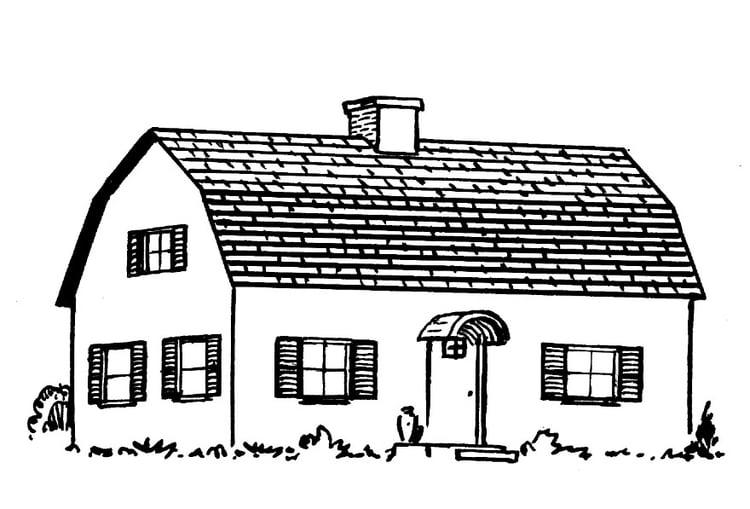 Malvorlage Haus Ausmalbild 15947