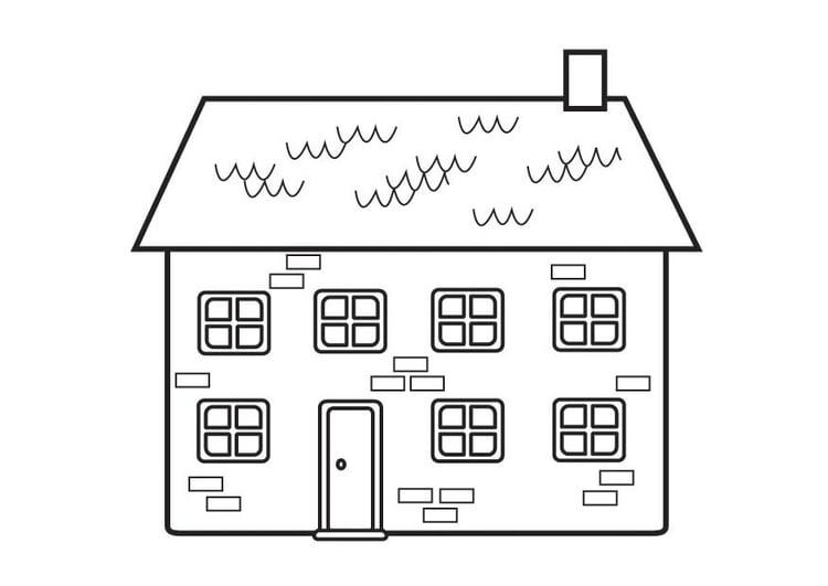 Malvorlage Haus Ausmalbild 23129