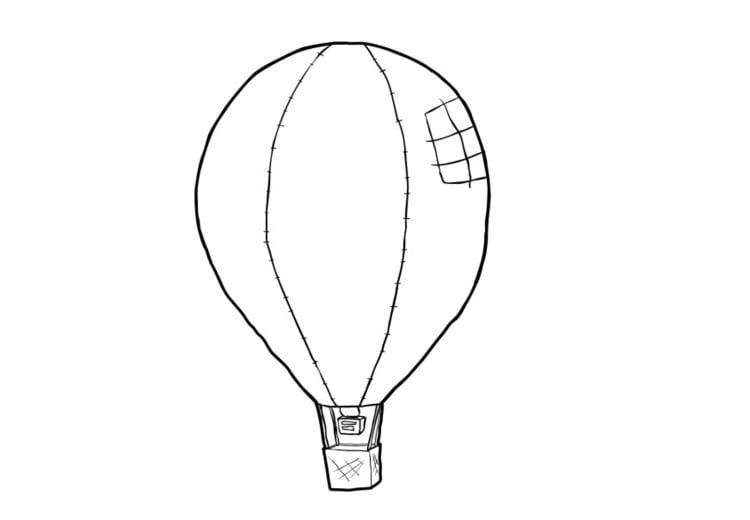 Malvorlage Heissluftballon - Kostenlose Ausmalbilder Zum