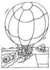Malvorlage Heissluftballon Ausmalbild 13773