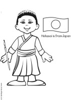 Malvorlage Hokusai aus Japan   Ausmalbild 5627.