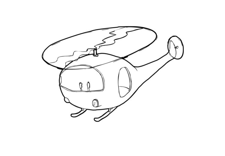 Malvorlage Hubschrauber - Kostenlose Ausmalbilder Zum