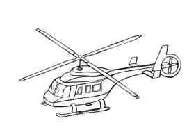 Helikopter Zum Ausmalen   Ausmalbilder