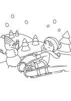 Malvorlage im Schnee spielen   Kostenlose Ausmalbilder Zum ...