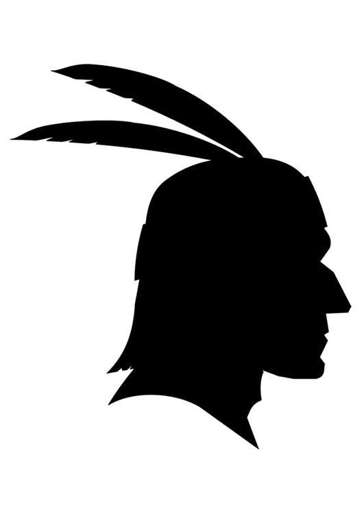Malvorlage Indianer - Kostenlose Ausmalbilder Zum