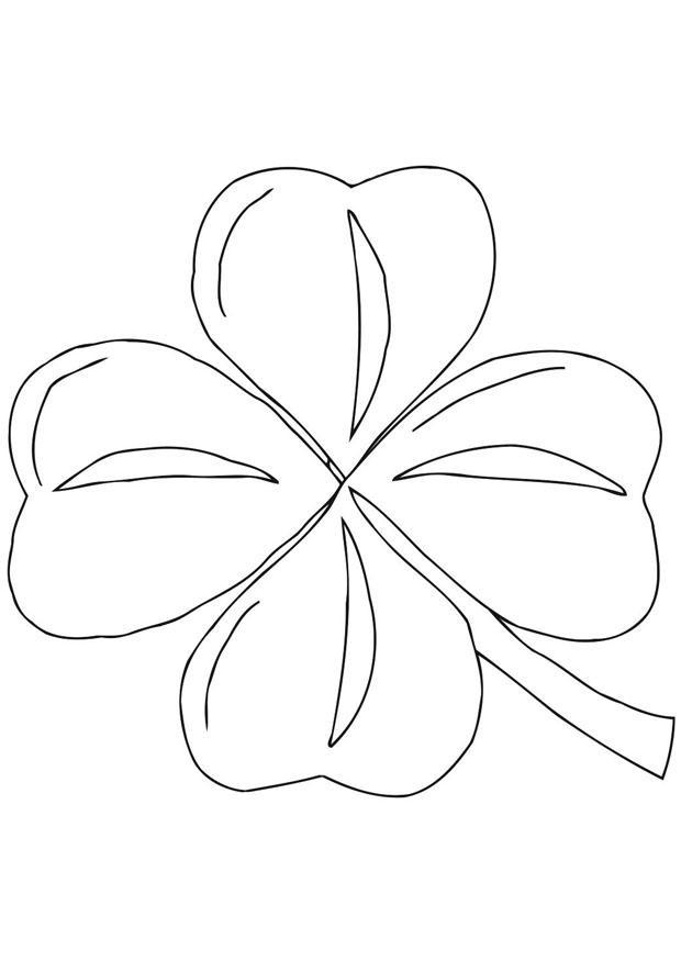 Malvorlage Irisches Kleeblatt - Shamrock - Kostenlose