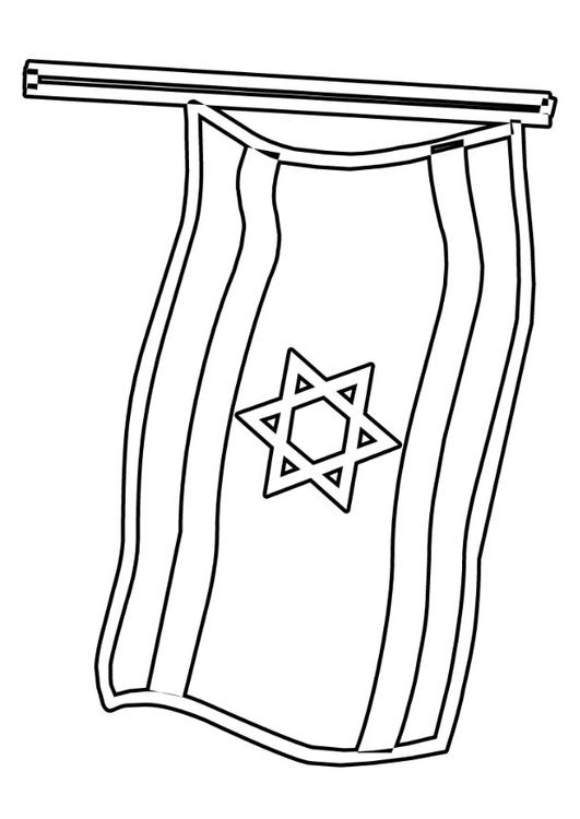 Malvorlage Israelische Fahne Ausmalbild 22930
