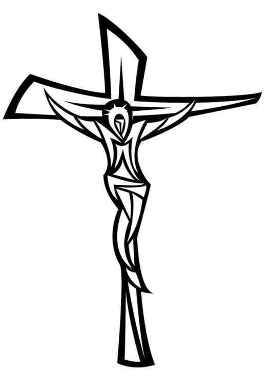 Malvorlage Jesus am Kreuz - Kostenlose Ausmalbilder Zum