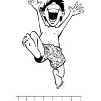 Malvorlage Junge im Schwimmbad   Kostenlose Ausmalbilder ...