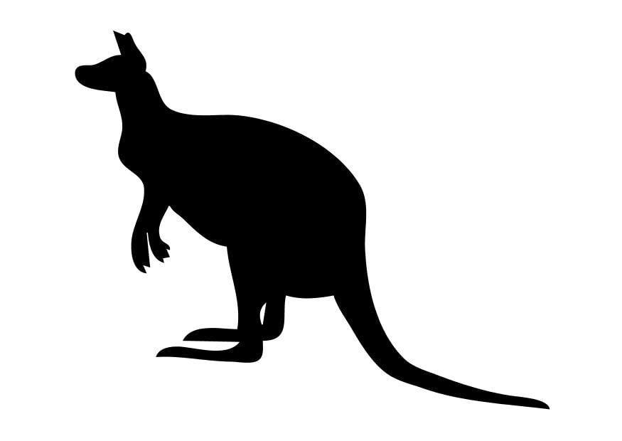 Malvorlage Känguruh - Kostenlose Ausmalbilder Zum
