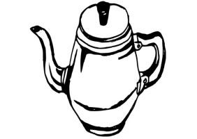Malvorlage Kaffeekanne   Ausmalbild 19086.