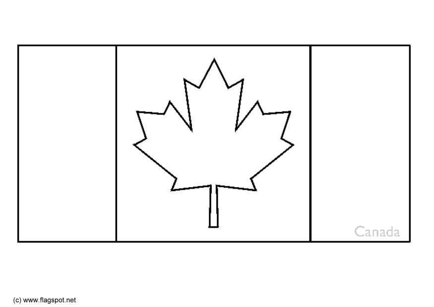 Malvorlage Kanada Ausmalbild 6324
