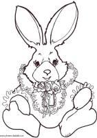 Malvorlage Kaninchen zum Ausmalen   Kostenlose ...