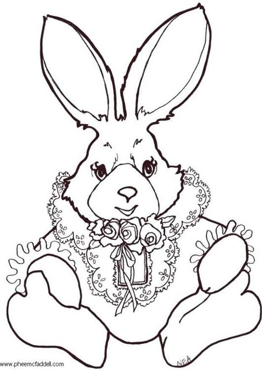 Malvorlage Kaninchen zum Ausmalen Ausmalbild 6176