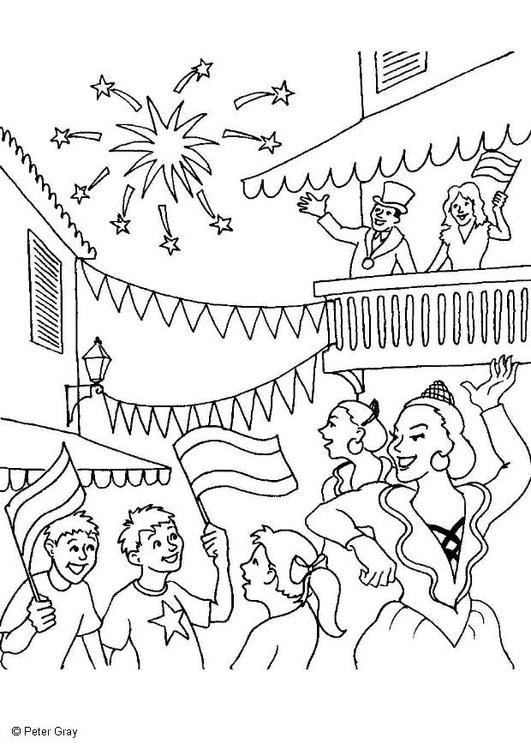 Malvorlage Karneval