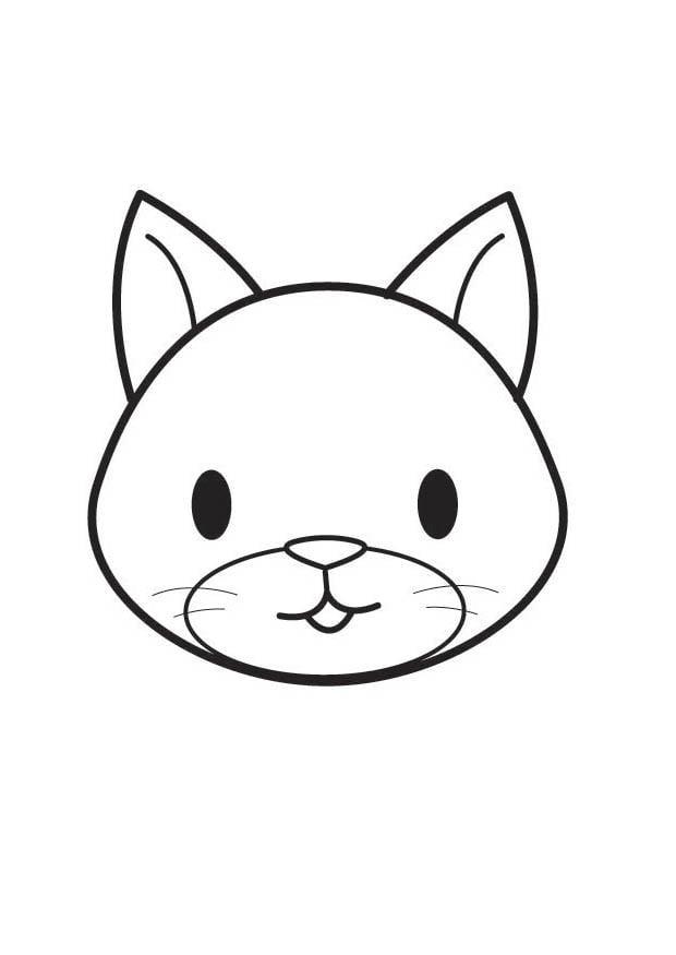 Malvorlage Katzenkopf - Kostenlose Ausmalbilder Zum