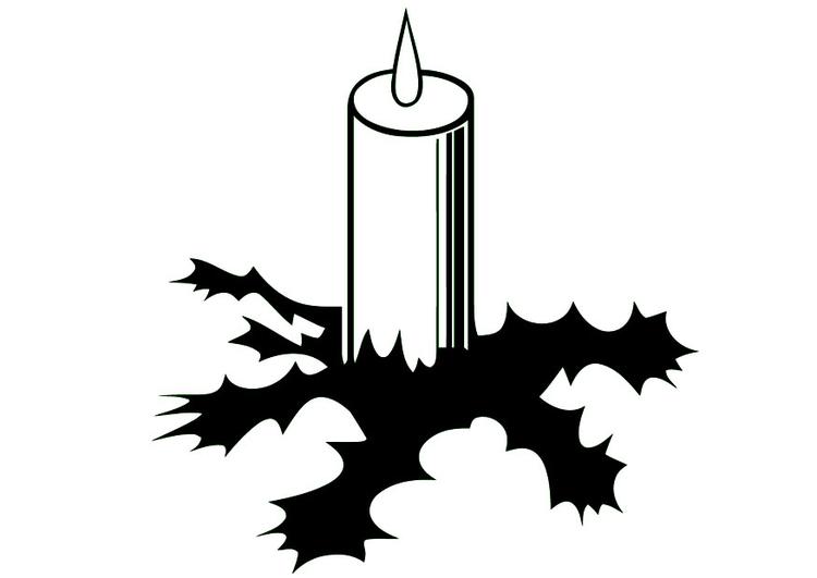 Malvorlage Kerze - Kostenlose Ausmalbilder Zum Ausdrucken