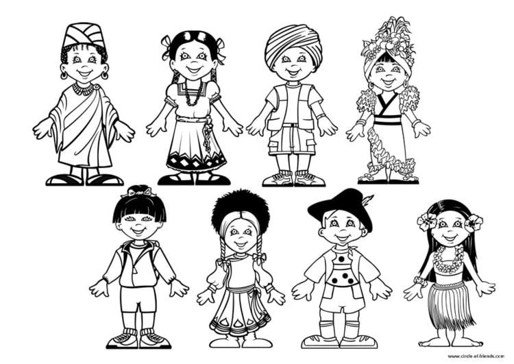 Malvorlage Kinder der Welt Ausmalbild 9281