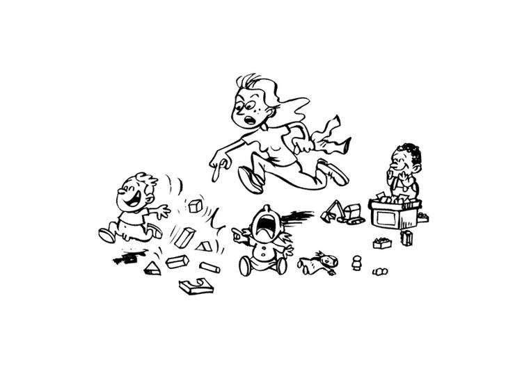 Malvorlage Kindergarten - Kostenlose Ausmalbilder Zum