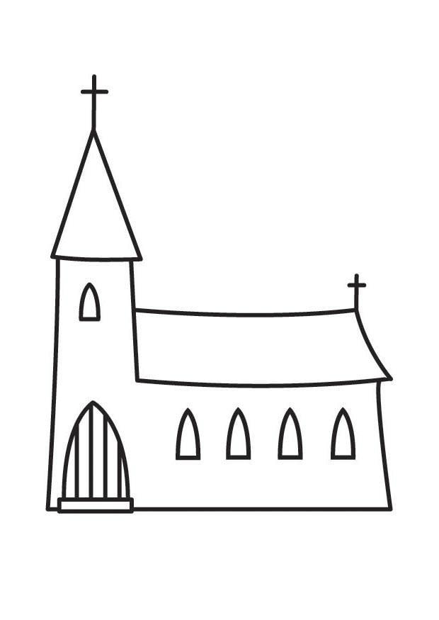 Malvorlage Kirche - Kostenlose Ausmalbilder Zum Ausdrucken